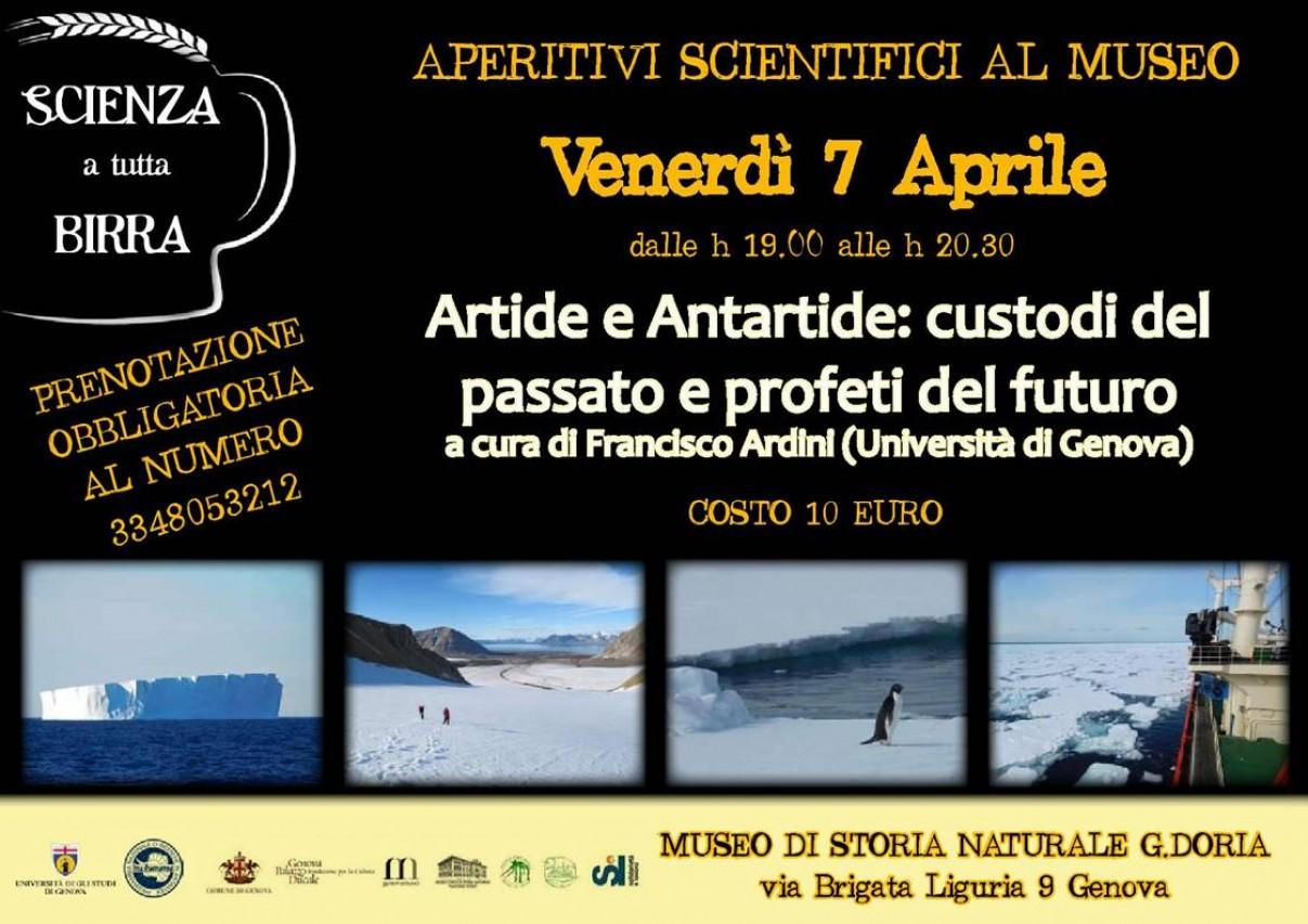 """APERITIVI SCIENTIFICI AL MUSEO - """"Artide e Antartide: custodi del passato e   profeti del futuro"""""""