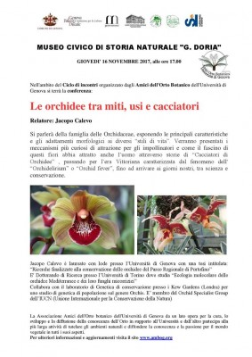 Le orchidee tra miti, usi e cacciatori