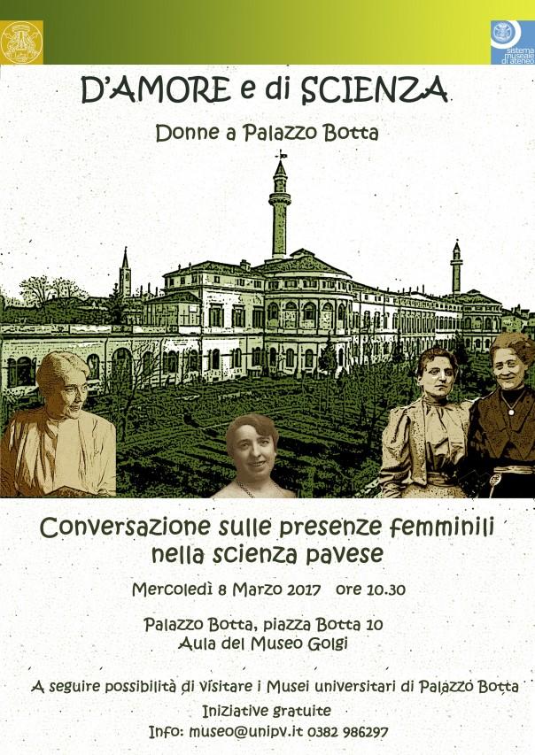 D'AMORE E DI SCIENZA - Donne a Palazzo Botta