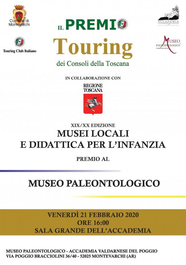 Consegna del XIX/XX Premio Touring dei consoli della Toscana al Museo Paleontologico di Montevarchi