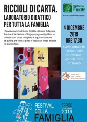 I Servizi educativi del Museo a Trento al Festival della Famiglia