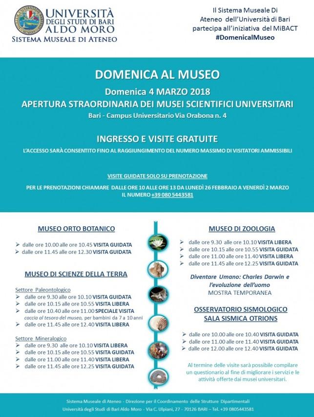 DOMENICA AL MUSEO. Apertura straordinaria dei Musei Scientifici Universitari.