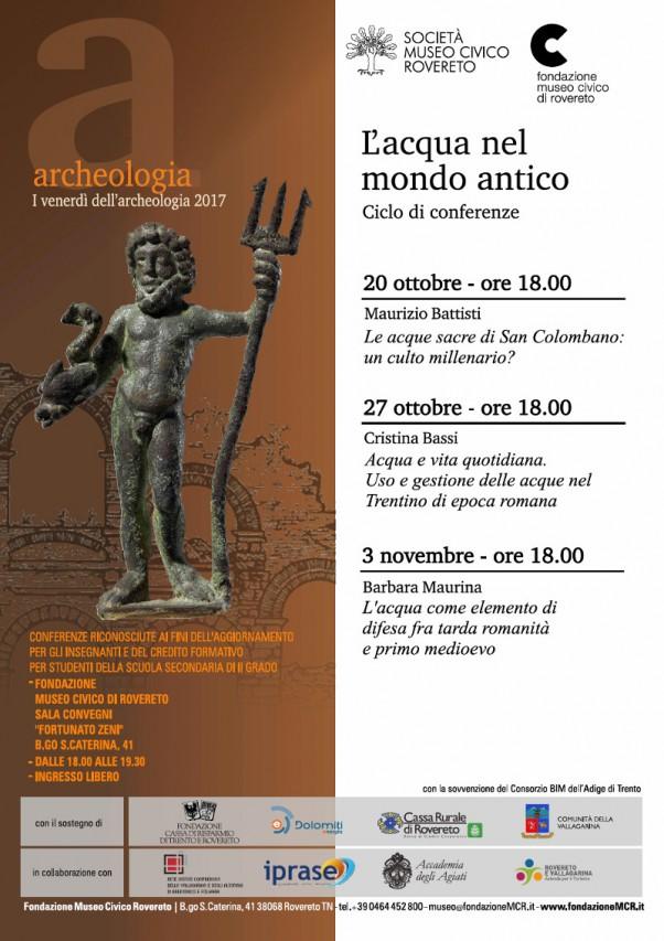 I VENERDI' DELL'ARCHEOLOGIA 2017 - L'acqua nel mondo antico