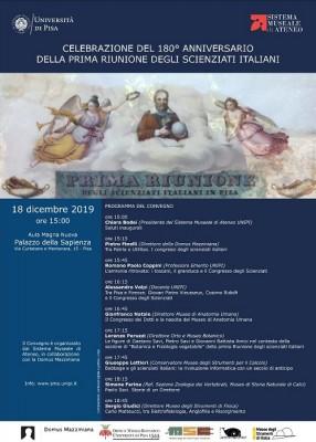 180° anniversario dalla prima riunione degli scienziati italiani