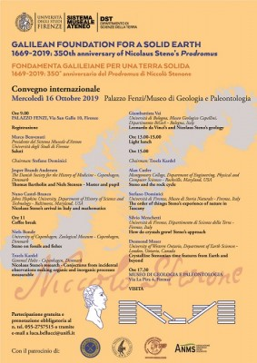 "Convegno internazionale ""Galilean foundation for a solid earth"""