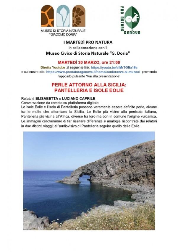 Perle attorno alla Sicilia. Conferenza on line