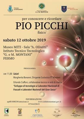 Giornata dedicata al fisico e scienziato Pio Picchi
