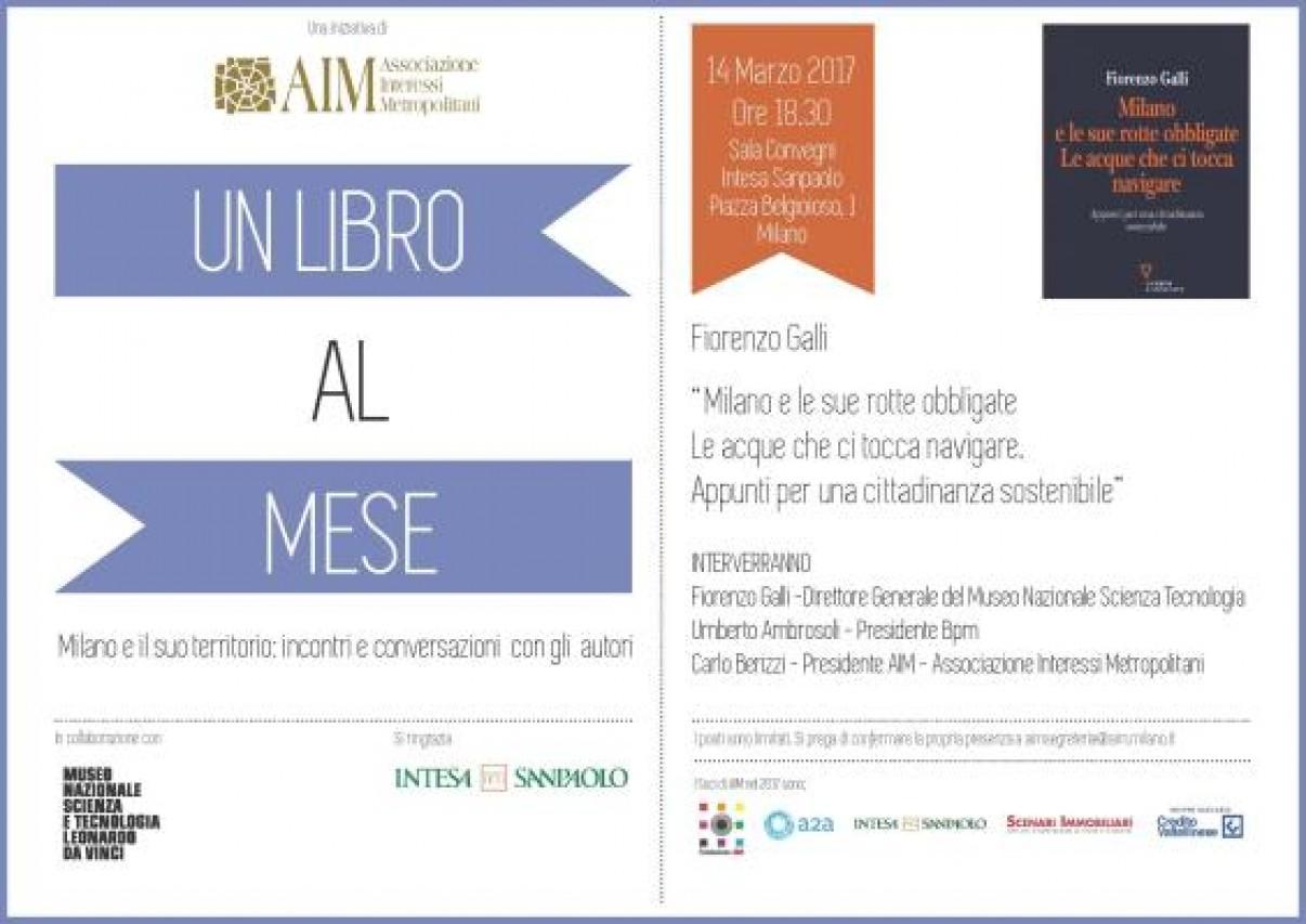 UN LIBRO AL MESE - Milano e il suo territorio: incontri e conversazioni con gli autori