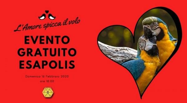 """Speciale San Valentino. Evento gratuito a Esapolis """"L'Amore vola"""""""