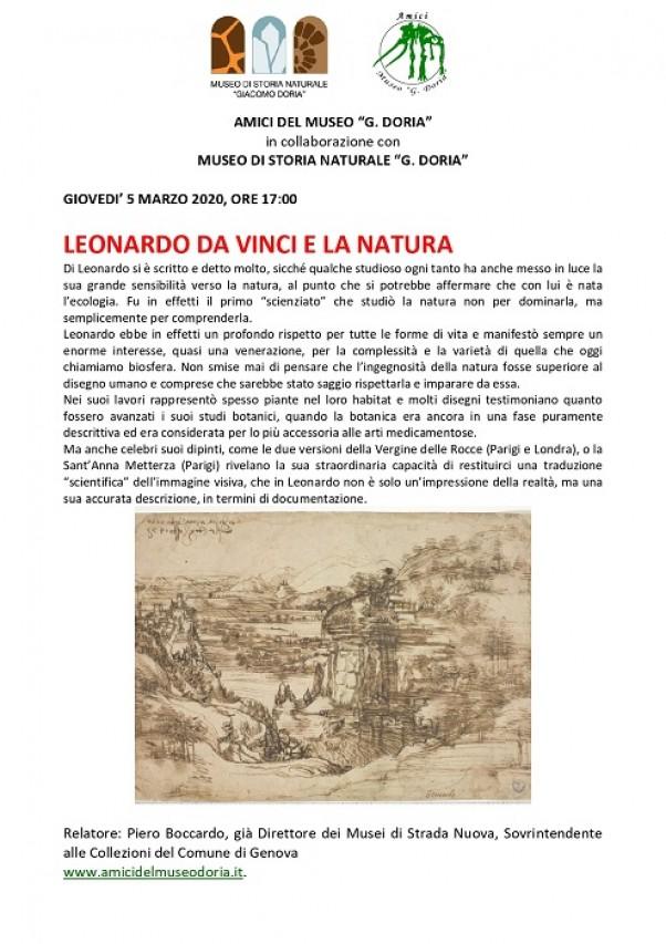 ANNULLATA - LEONARDO DA VINCI E LA NATURA