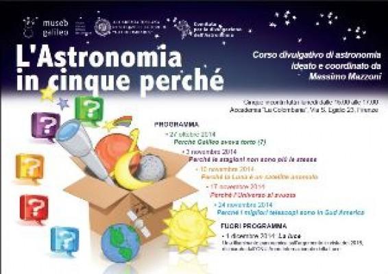 L'astronomia in cinque perché. Corso divulgativo di astronomia