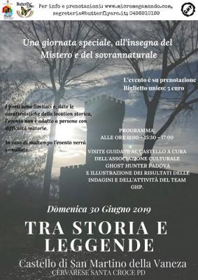 TRA STORIA E LEGGENDA AL CASTELLO DI SAN MARTINO DELLA VANEZA