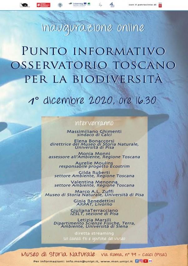 Inaugurazione punto informativo dell'Osservatorio Toscano per la Biodiversità