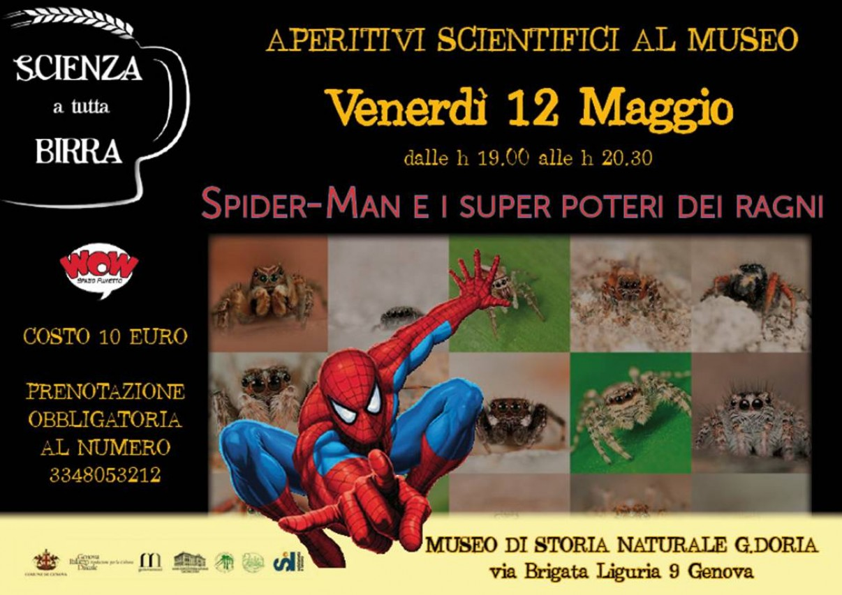 APERITIVI SCIENTIFICI AL MUSEO - Spider-Man e i super poteri dei ragni