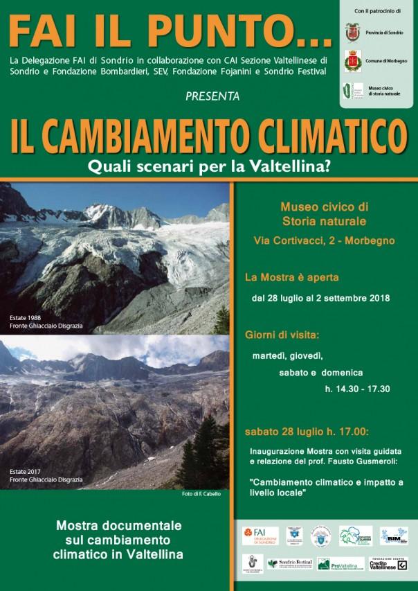 IL CAMBIAMENTO CLIMATICO: quali scenari per la Valtellina?