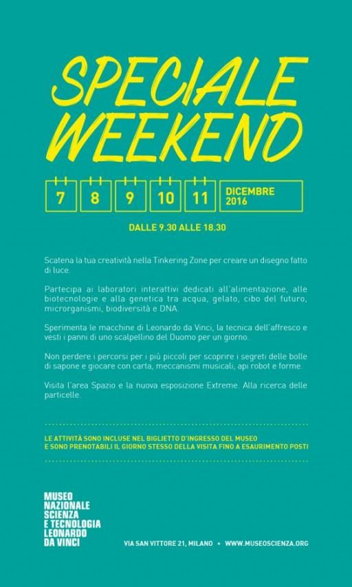 Speciale Weekend al Museo Leonardo da Vinci