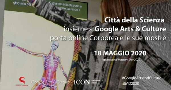 CORPOREA, IL MUSEO INTERATTIVO DEL CORPO UMANO, DA CITTÀ DELLA SCIENZA A GOOGLE ARTS & CULTURE