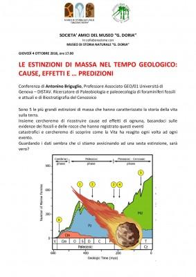 LE ESTINZIONI DI MASSA NEL TEMPO GEOLOGICO: CAUSE, EFFETTI E … PREDIZIONI