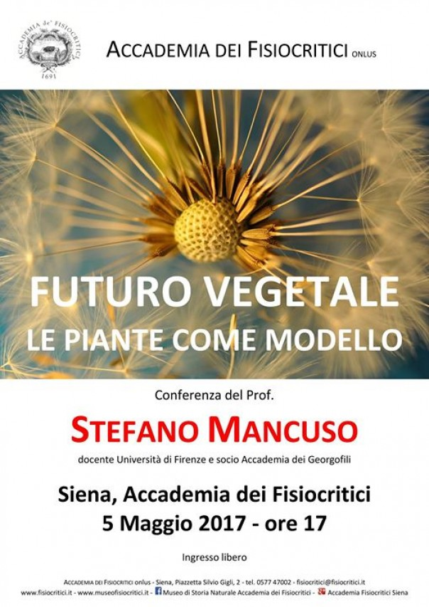 Futuro vegetale. Le piante come modello - conferenza del prof. Stefano Mancuso