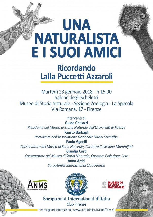 UNA NATURALISTA E I SUOI AMICI Ricordando Lalla Puccetti Azzaroli