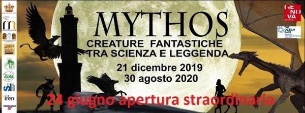 Mostra Mythos - Apertura straordinaria 24 giugno 2020