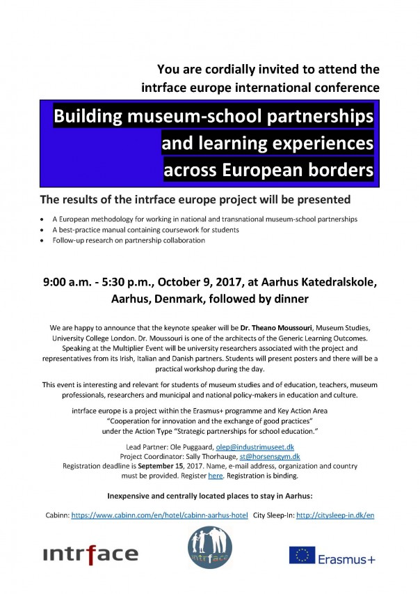 Building museum-school partnerships and learning experiences across European borders
