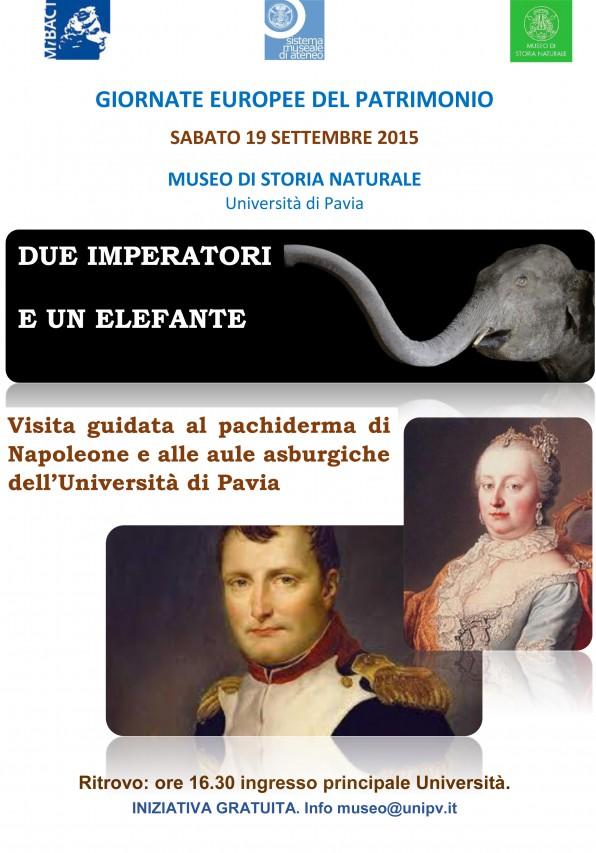 Due imperatori in Università. Visita all'elefante e alle aule storiche dell'ateneo di Pavia