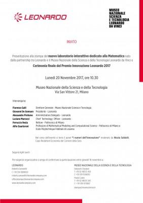 Presentazione alla stampa nuovo i.lab Matematica e Premio Innovazione Leonardo 2017
