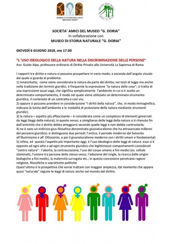 L'uso ideologico della natura nella discriminazione delle persone