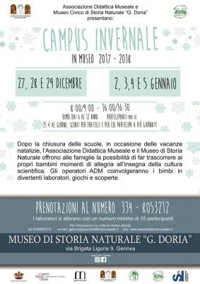 CAMPUS INVERNALE al Museo Doria - W le vacanze divertenti!