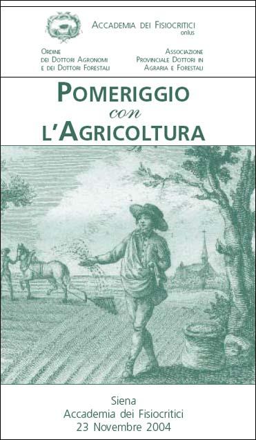 POMERIGGIO CON L'AGRICOLTURA