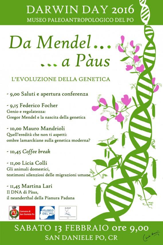 DARWIN DAY 2016 - Da Mendel a Paùs...