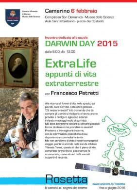 DARWIN DAY 2015 - ExtraLife appunti di vita extraterrestre