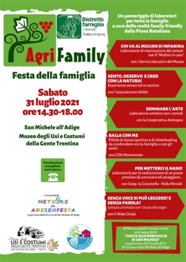 """Torna per la VII edizione """"Agrifamily"""" Festa della famiglia"""