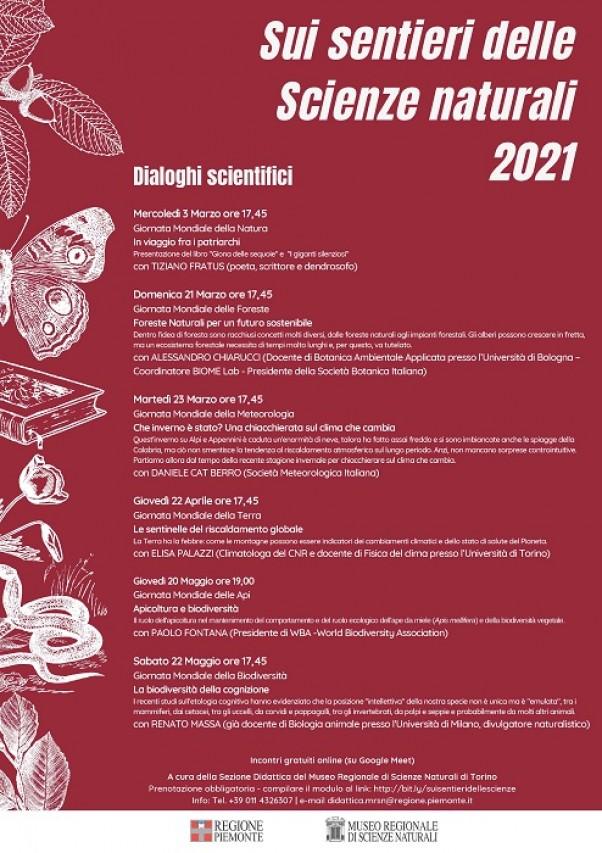 SUI SENTIERI DELLE SCIENZE NATURALI 2021 - Dialoghi Scientifici