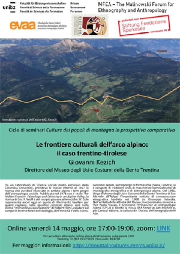 Le frontiere culturali dell'arco alpino: il caso trentino-tirolese