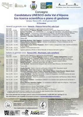 """Convegno """"Candidatura UNESCO della Val d'Alpone tra ricerca scientifica e piano di gestione"""""""