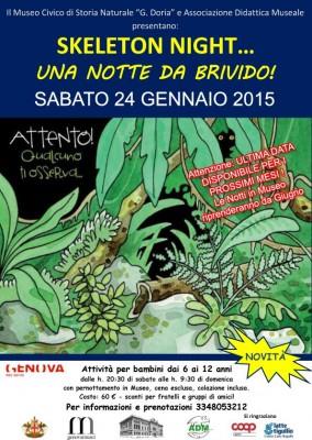 SKELETON NIGHT…UNA NOTTE DA BRIVIDO!