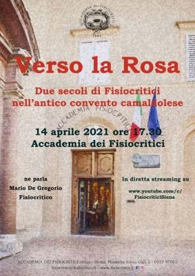 Verso la Rosa: due secoli di Fisiocritici nell'antico convento camaldolese