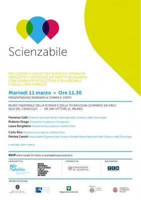 SCIENZABILE: Inclusione e gioco tra scienza e disabilità. Progetto a sostegno dei diritti dei bambini con disabilità intellettiva e relazionale e delle loro famiglie