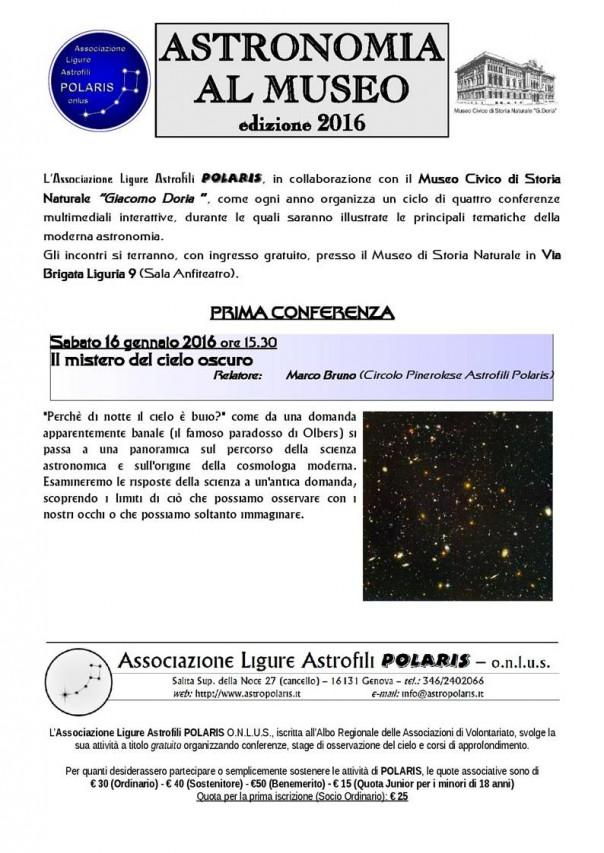 Astronomia al Museo Doria!