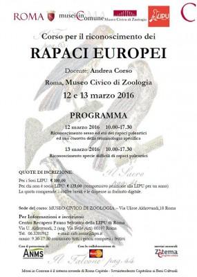 Corso per il riconoscimento dei RAPACI EUROPEI