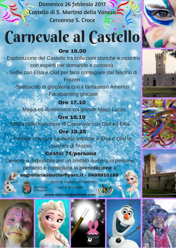 Carnevale al Castello con gli Amici di Frozen